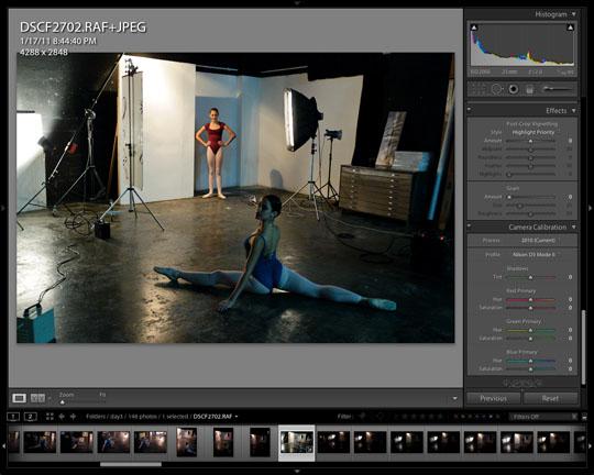 Fuji X100 RAW file corrected in Lightroom