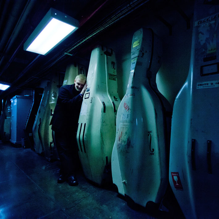 Jay Hunter Morris and the cello cases